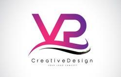 VP V P Letter Logo Design Vecteur moderne L de lettres d'icône créative Photos stock