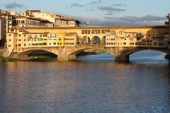 VPanoramic view over Florence Italy with city river, Tuscany, Italy Royalty Free Stock Photos