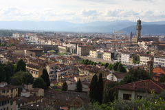 VPanoramic view over Florence Italy with city river, Tuscany, Italy Stock Image