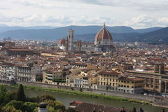 VPanoramic view over Florence Italy with city river, Tuscany, Italy Royalty Free Stock Image