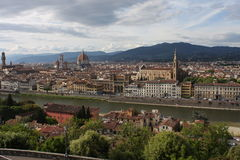 VPanoramic view over Florence Italy with city river, Tuscany, Italy Royalty Free Stock Photography