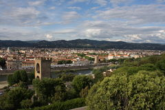 VPanoramic view over Florence Italy with city river, Tuscany, Italy Stock Images