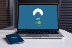 VPN for computer stock photo