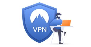 VPN connection for computers royalty free illustration
