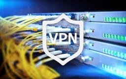 VPN, faktisk teknologi för privat nätverk, närstående och ssl, cybersäkerhet royaltyfri foto