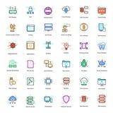 Vpn och knyta kontaktsymboler royaltyfri illustrationer