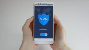 VPN Rede virtual privada Girando sobre VPN no smartphone Criptografia de dados Substituto do IP Seguran?a do Cyber e filme