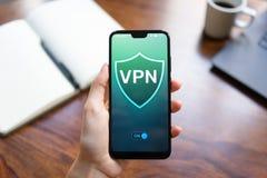 VPN sieci, anonimowego i bezpiecznie dostęp do internetu wirtualny intymny, pojęcia odosobniony technologii biel fotografia stock