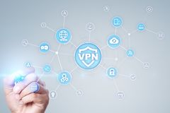 VPN Virtual Private network protocol. Cyber security and privacy connection technology. Anonymous Internet. VPN Virtual Private network protocol. Cyber security royalty free stock photos