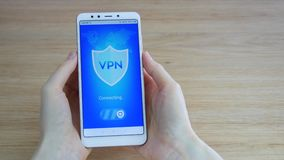 VPN. Virtual private network. Turning on VPN on the smartphone. Data encryption. IP substitute. Cyber security and