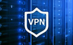 VPN, virtuelle private Netztechnik, Stellvertreter und SSL, Internetsicherheit Lizenzfreies Stockbild