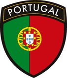 Vportugal vector patch flag Stock Images