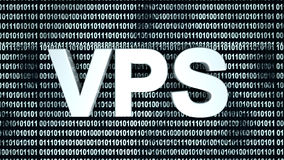 VPS and binary Code Royalty Free Stock Image