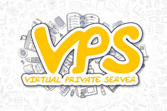 Vps - Doodle Yellow Inscription. Business Concept. Royalty Free Stock Photos
