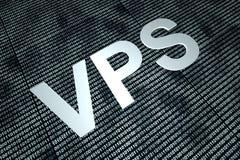 VPS e código binário Foto de Stock Royalty Free