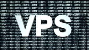VPS i binarny kod Obraz Royalty Free