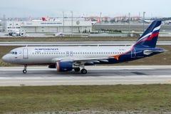 VQ-BEJ Aeroflot russische Fluglinien, Airbus A320-214 Stockbild