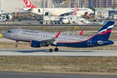 VQ-BPU Aeroflot russische Fluglinien, Airbus A320-214 Stockbild