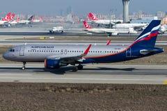 VQ-BSI Aeroflot, Airbus A320 - 200 Stockfotografie
