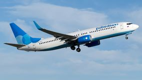 VQ-BTC Pobeda, Boeing 737-800 Royaltyfria Bilder