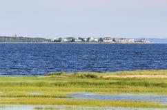 Vråkfjärdkustlinje i Fairhaven Arkivbilder