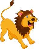 Vråla för lejontecknad film Royaltyfri Illustrationer