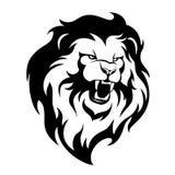 Vråla lejonet vektor illustrationer