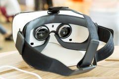 VR耳机,虚拟现实设置, VR玻璃 库存图片