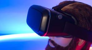 VR虚拟现实耳机360 3D未来赌博 免版税图库摄影