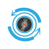 vr άποψη καμερών τεχνολογίες 360 βαθμών Στοκ Εικόνα
