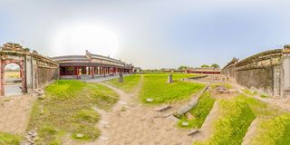 360VR ακρόπολη του χρώματος στο Βιετνάμ στοκ εικόνες