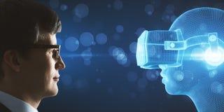 VR και μελλοντική έννοια Στοκ φωτογραφία με δικαίωμα ελεύθερης χρήσης