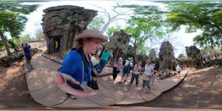 360VR πλήθη στο TA Prahm στοκ φωτογραφίες