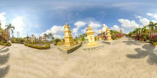 360VR στην παγόδα Vinh Trang στο Βιετνάμ στοκ εικόνα με δικαίωμα ελεύθερης χρήσης