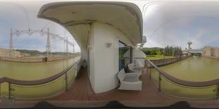 360VR ταξιδεύοντας μέσω των εγκαταστάσεων παραγωγής ενέργειας σιδήρου Gate2 στοκ εικόνα