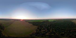 VR360在天空的热空气气球在领域 影视素材