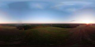 VR360在天空的热空气气球在领域 股票视频