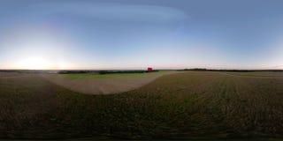 VR360在天空的热空气气球在领域 股票录像