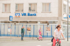 VR Bank people Royalty Free Stock Photo