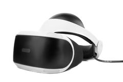 VR Box  Virtual reality glasses, isolated on a white background. Professional audio equipment. New toy for childrens and adults. Professional audio equipment or Stock Photos