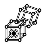 Vr circular camera 3d panorama outline. Illustration eps 10 Stock Images