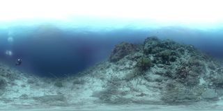 360 vr a coral reef in Philippines, Black Rock