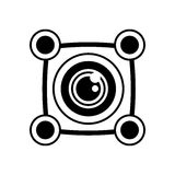 Vr 3d camera panorama outline. Illustration eps 10 Royalty Free Stock Photo