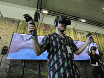 Vr devices testing royalty free stock image