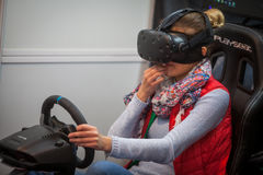 VR driving game Royalty Free Stock Photo