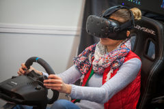 VR driving game Stock Images