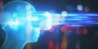 VR e conceito do Cyberspace ilustração royalty free