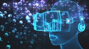 VR en gegevensconcept Stock Fotografie