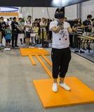 VR ervaring in de innovatie en de ondernemerschapsmarkt van Chengdu van 2016 Stock Fotografie