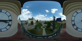 360 vr european city hall 4k panoramic stock footage